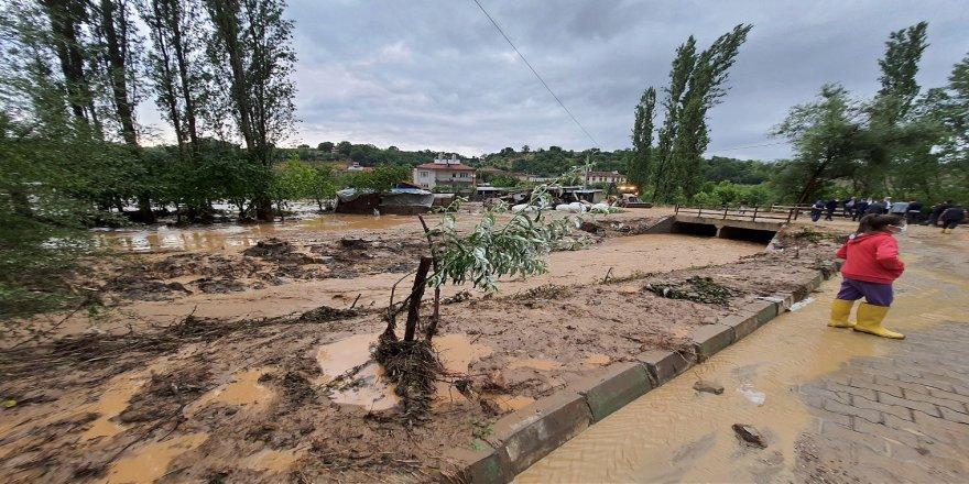 Kütahya'da sağanak nedeniyle 2 köyde sel meydana geldi, tarım arazileri zarar gördü
