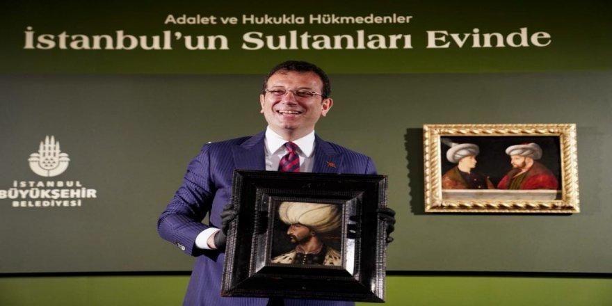 Kanuni Sultan Süleyman tablosu, Fatih Sultan Mehmet'in portresinin yanında yerini aldı