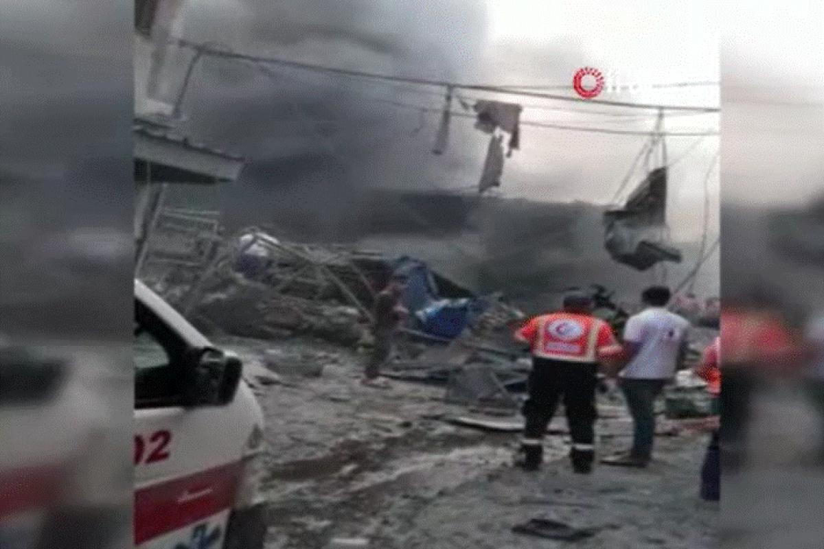 Gazze'de pazar alanında patlama: 7 yaralı
