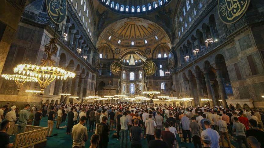 Ayasofya-i Kebir Camii ibadete açılmasının ilk yılında 3 milyonu aşkın ziyaretçiyi ağırladı