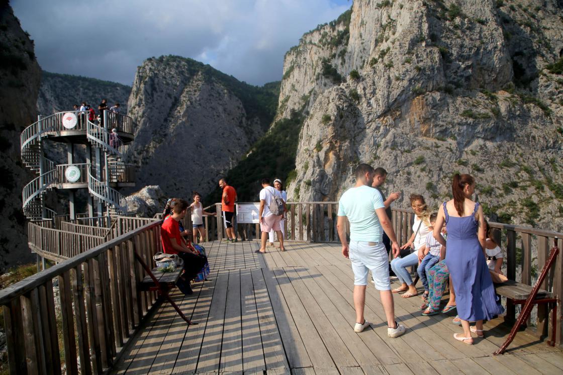 Kurban Bayramı tatilinde Kastamonu'daki kanyonlara yoğun ilgi