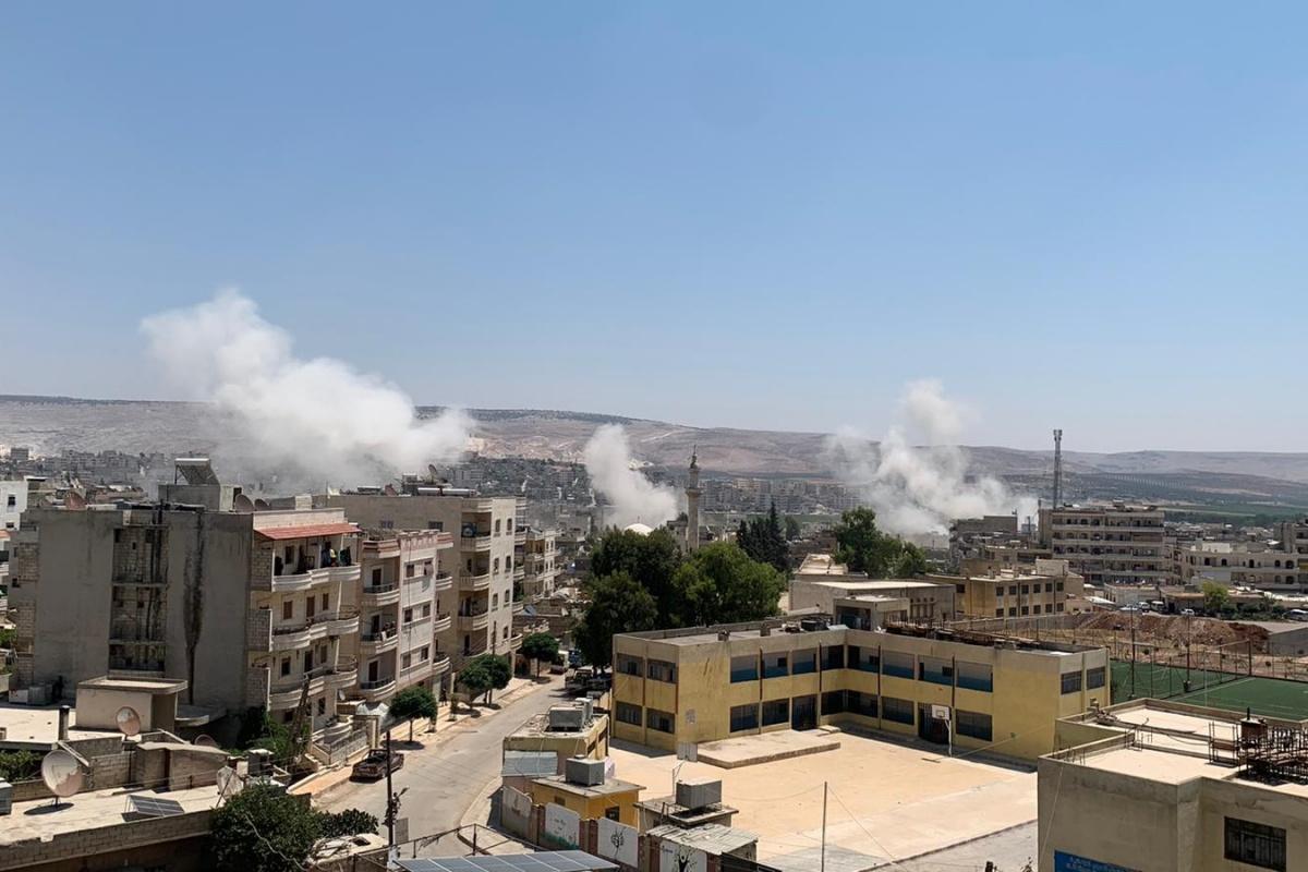 Terör örgütü PKK Afrin'de sivilleri hedef aldı: 7 yaralı