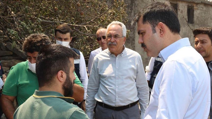 Çevre ve Şehircilik Bakanı Kurum: Manavgat'ta hasar tespit çalışmalarımızı 33 mahallenin 30'unda tamamladık