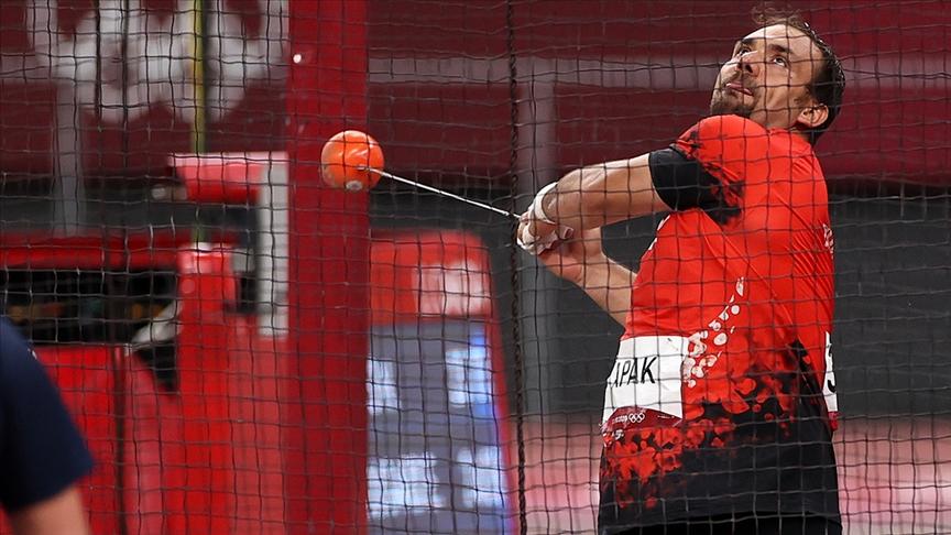 Milli atlet Eşref Apak, çekiç atma finalinde oyunları 9. sırada tamamladı