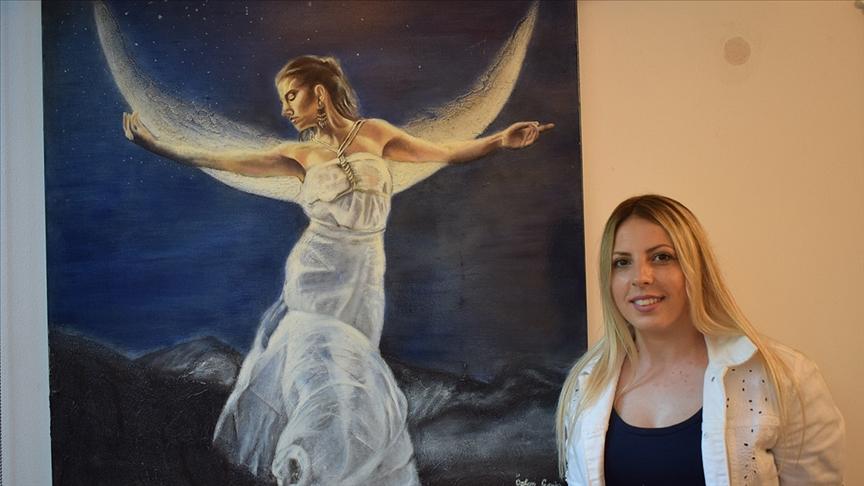 Ressam Özlem Garip'in eserleri Leonardo da Vinci Müzesi koleksiyonunda sergileniyor