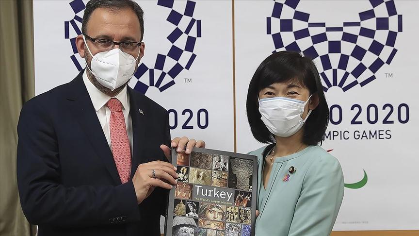 Gençlik ve Spor Bakanı Kasapoğlu, Japonya Olimpiyatlar Bakanı Marukawa Tamayo ile görüştü