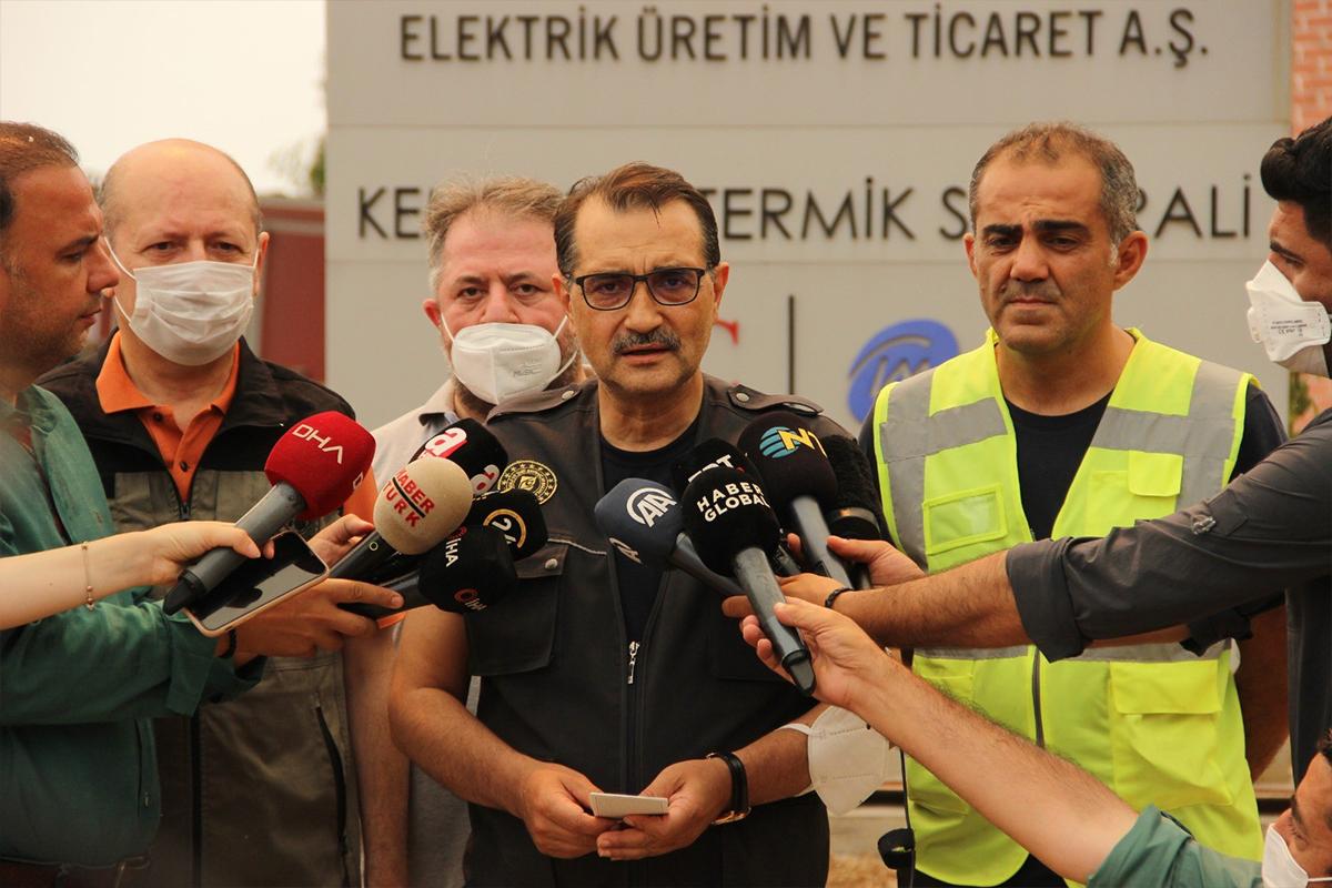 Enerji ve Tabii Kaynaklar Bakanı Dönmez, termik santralle ilgili son durumu açıkladı