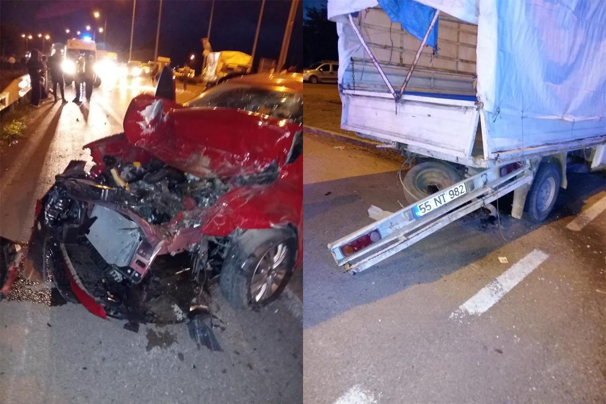 Samsun'da trafik kazası: 7 yaralı!