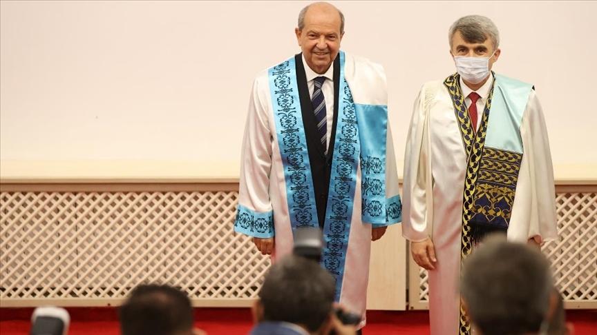 "KKTC Cumhurbaşkanı Tatar'a Kütahya'da ""fahri doktora"" unvanı verildi"