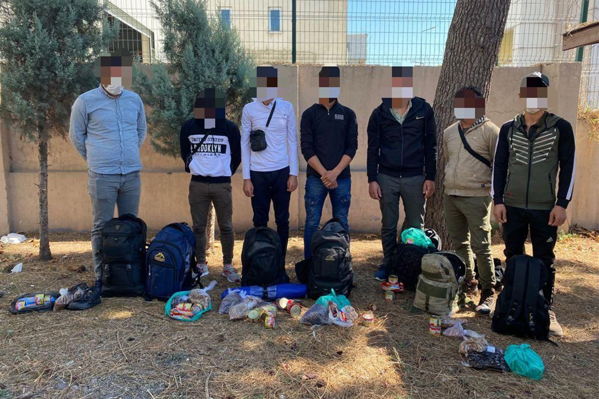 TEM Otoyolu'nda 7 düzensiz göçmen yakalandı