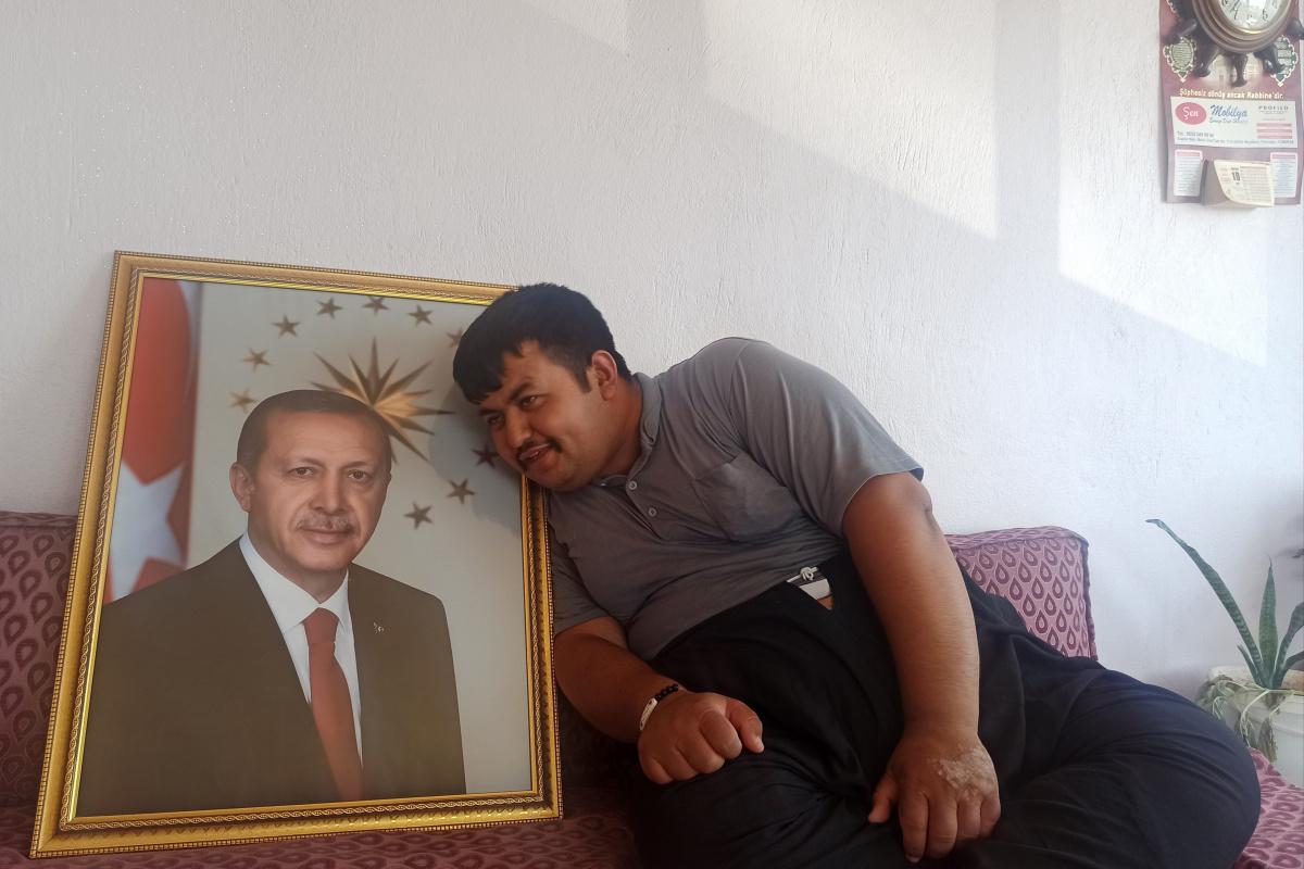 Kahramanmaraşlı gencin Cumhurbaşkanı Erdoğan sevgisi