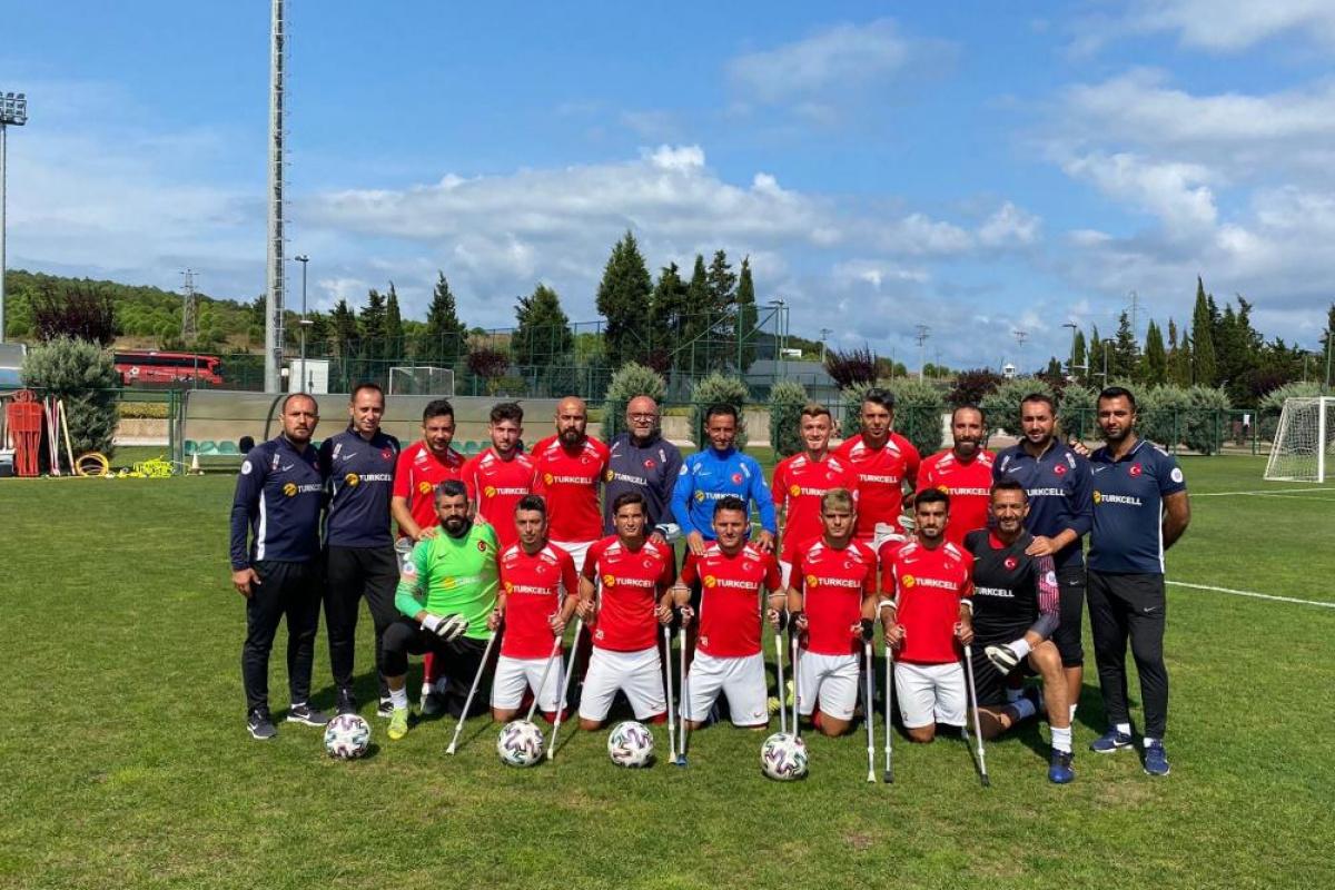 Ampute Milli Futbol Takımı şampiyona yolunda