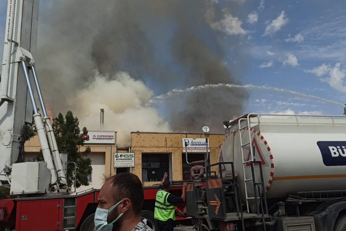 Ankara Organize Sanayi Bölgesinde yangın