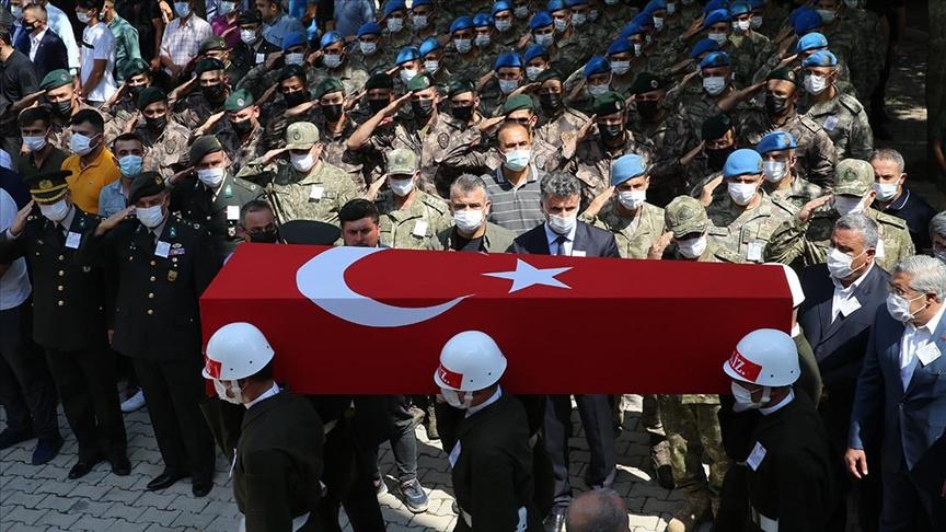 Şehit Piyade Sözleşmeli Er Turgay Abacı, Hatay'da son yolculuğuna uğurlandı