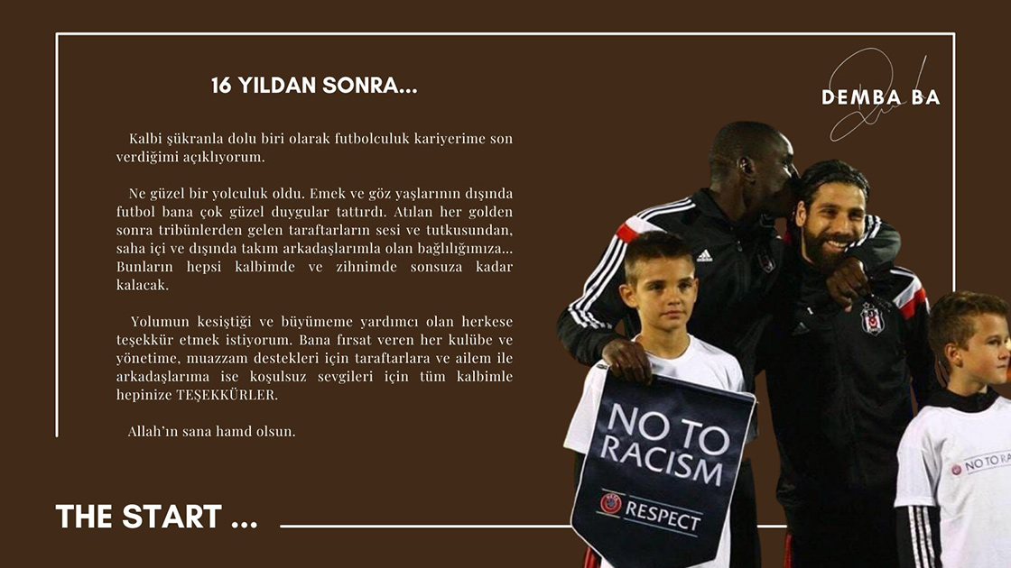 Senegalli futbolcu Demba Ba emekliye ayrıldı
