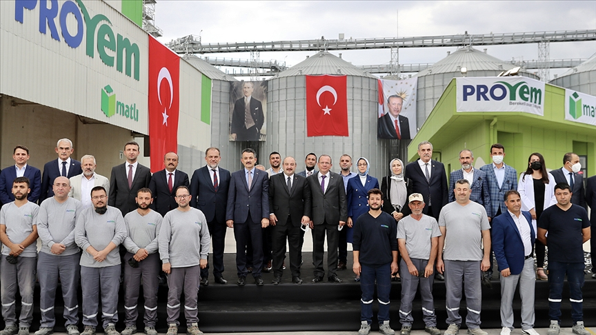 Bakanlar Varank ve Pakdemirli'nin katılımıyla Proyem Polatlı Yem Fabrikası açıldı