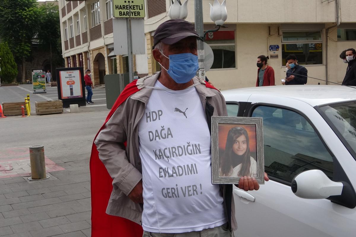 HDP Genel Merkezine yürüyen baba, kızına örgütün elinden kaçıp kurtulma çağrısı yaptı