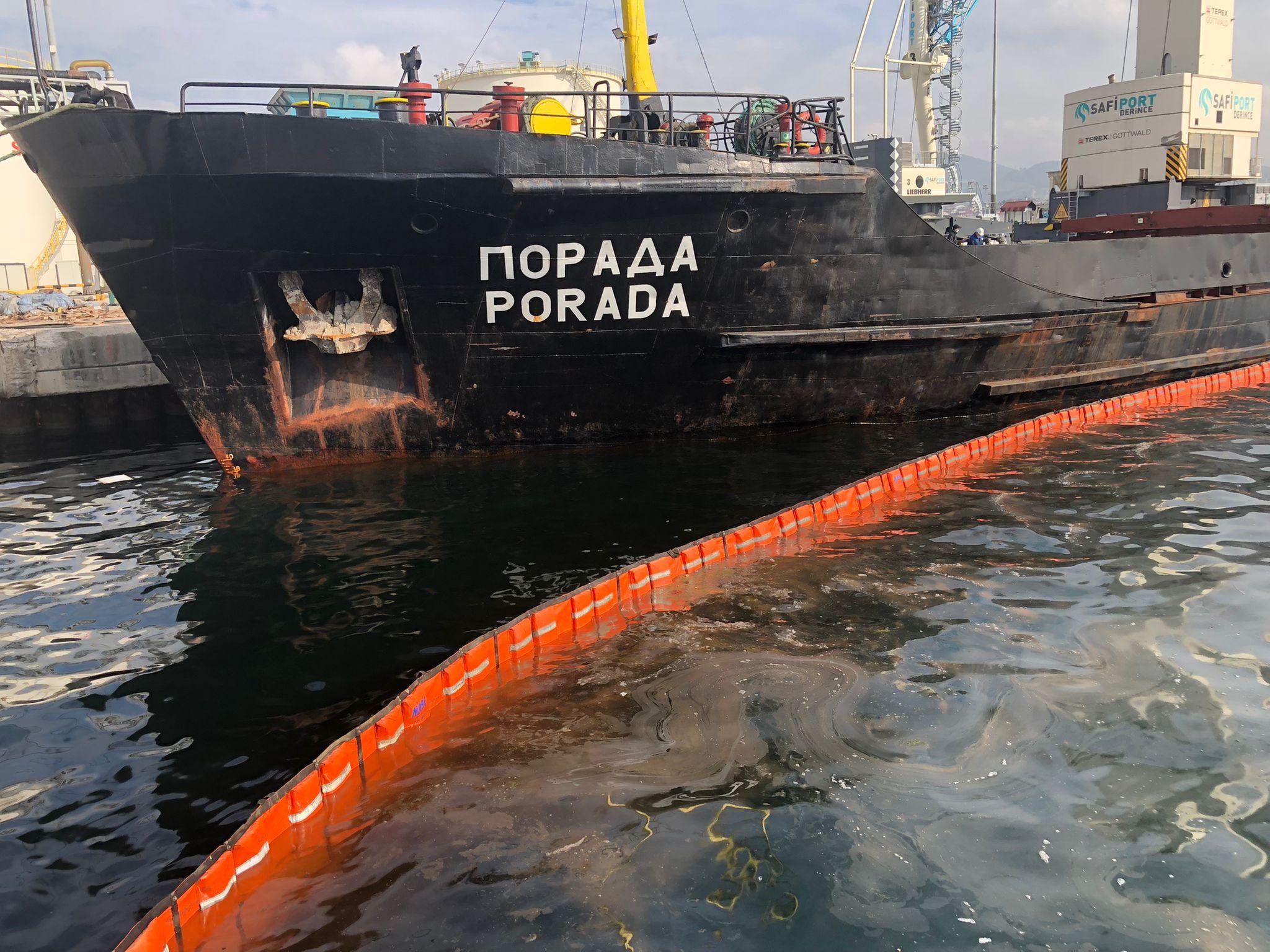 Derince Limanı'nda Körfezikirleten gemiye 1 milyon 286 bin TL ceza