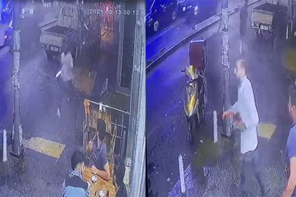 İstanbul'da 'omuz atma' cinayeti kamerada!