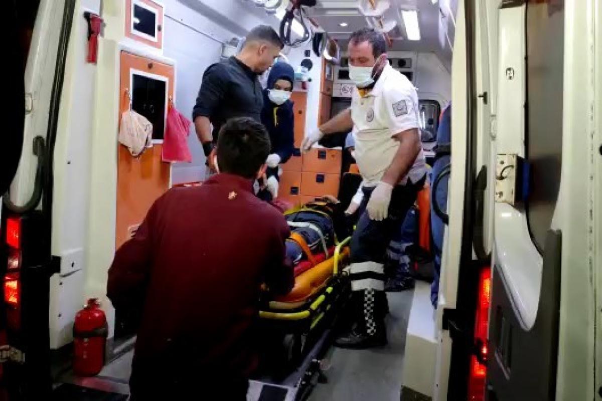 Bursa'da 15 metre yüksekliğindeki tarihi surlardan düşen kişi yaralandı