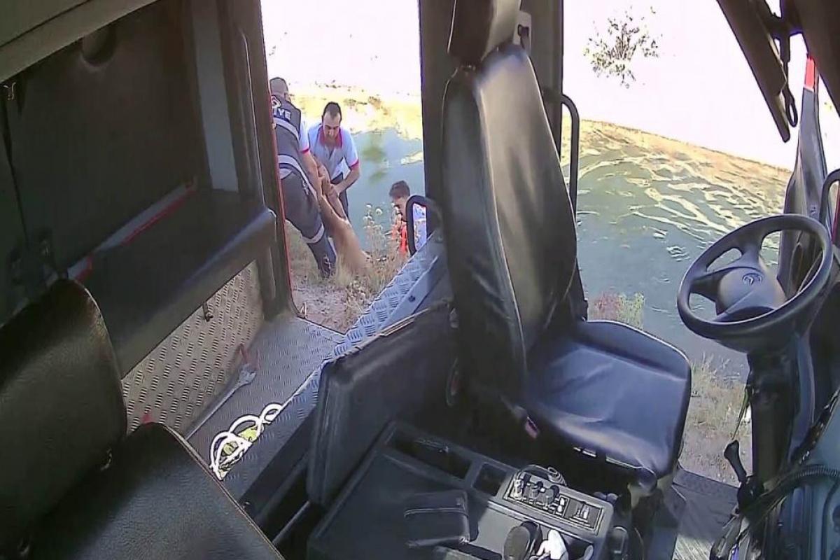Boğulma olayına giden itfaiye erlerinin zamanla yarışı kamerada