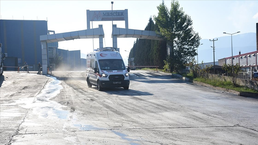 Bartın'da demir çelik fabrikasındaki patlamada 5 işçi yaralandı