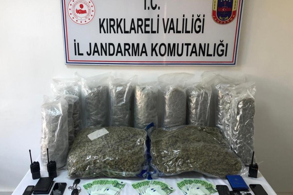 Kırklareli'nde uluslararası uyuşturucu çetesine operasyon: 4'ü Bulgar 5 gözaltı