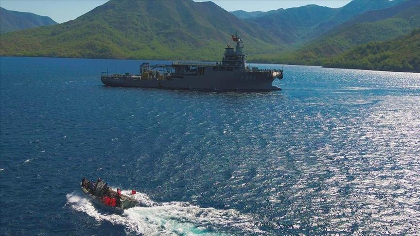 Kurtaran 2021 Denizaltı Arama Kurtarma Tatbikatı Marmaris'te devam ediyor
