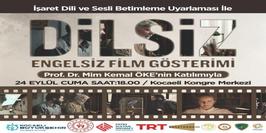 Ellerimde Güç Var projesinde engelli bireylere özel sinema gösterimi;  Dokunaklı bir insan hikâyesi; DİLSİZ
