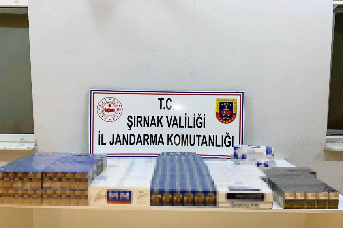 Şırnak'ta 22 bin 200 karton kaçak sigara ele geçirildi