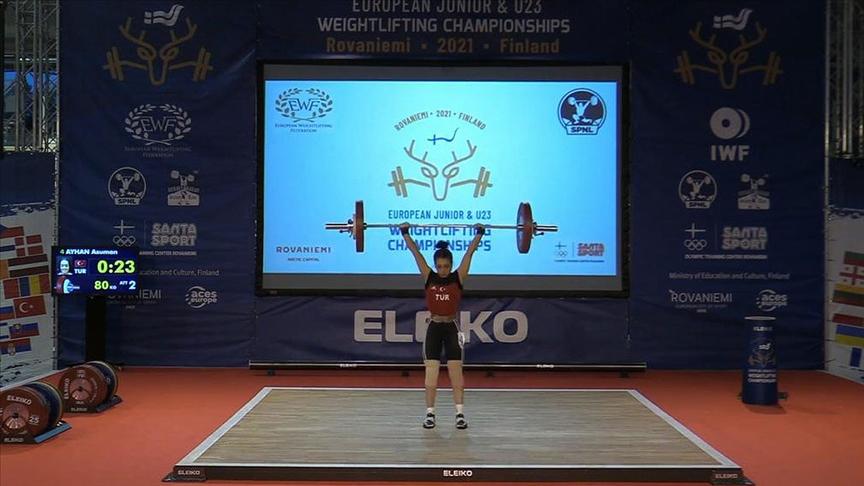Gençler ve 23 Yaş Altı Avrupa Halter Şampiyonası'nda Asuman Ayhan, Avrupa ikincisi oldu