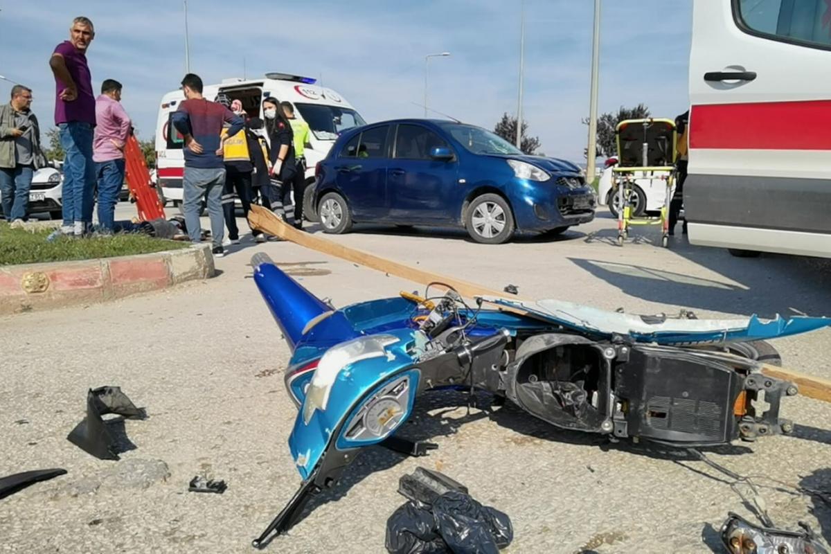 Bursa'da anne ve kızının ölümden döndüğü kaza kamerada