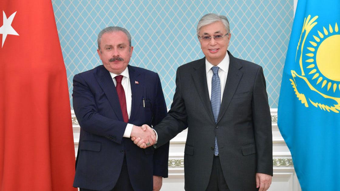 TBMM Başkanı Şentop, Kazakistan Cumhurbaşkanı Tokayev tarafından kabul edildi