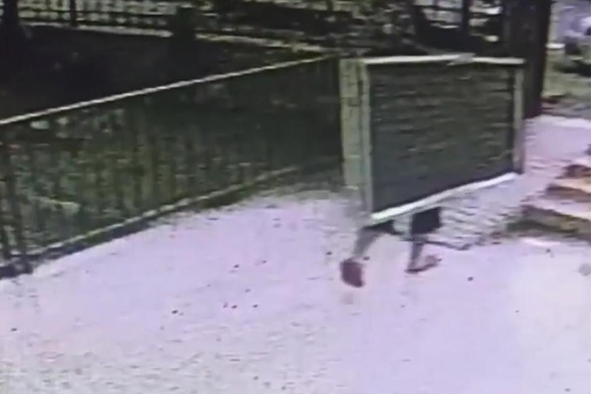 Apartmanın çatısına çıkan hırsız, güneş panelini çaldı