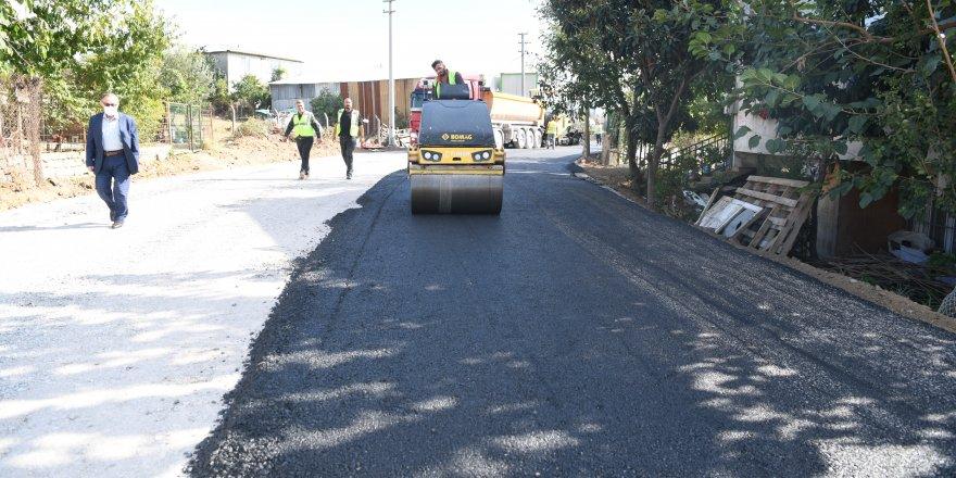 Cumhuriyet'te asfalt çalışması
