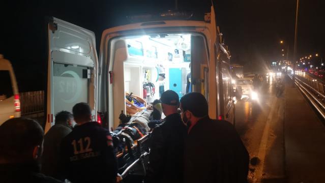 Gebzede kaldırıma çarpan motosikletin sürücüsü yaralandı