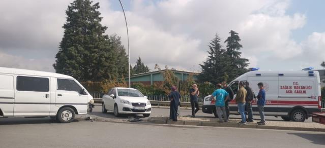Gebze'de trafik kazası 1yaralı