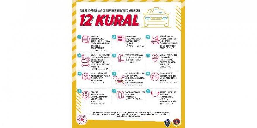 İçişleri Bakanlığından taksi şoförlerine 12 kural hatırlatması