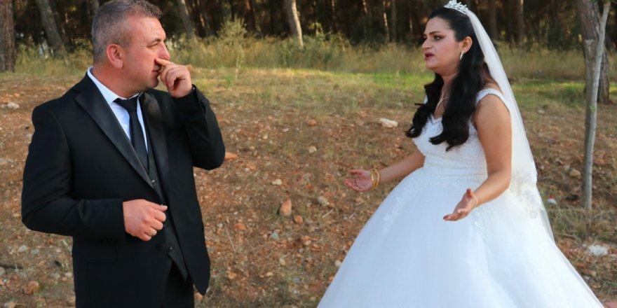 Düğün günü dış çekime giden gelin ve damadın altınlarını çaldılar