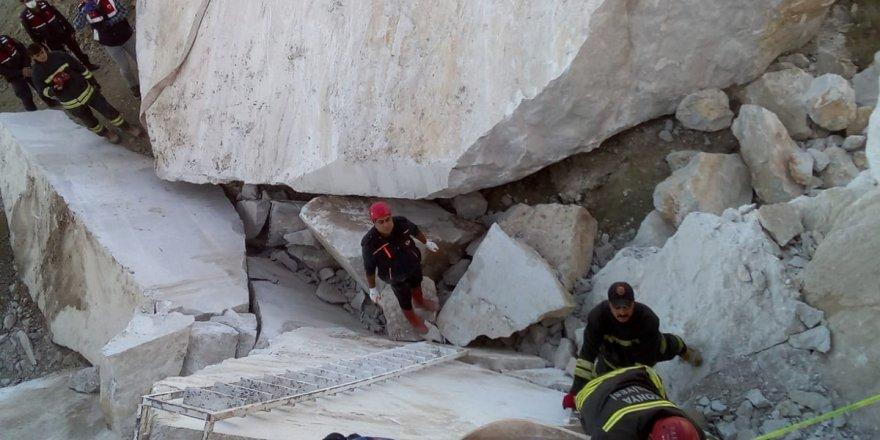 Maden ocağında iki kayanın arasında sıkışan kişi öldü
