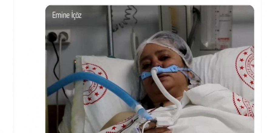 Koronavirüs tedavisi devam eden 40 yaşındaki hasta Emine İçöz, vatandaşlara koronavirüs aşılarını olmaları tavsiyesinde bulundu.