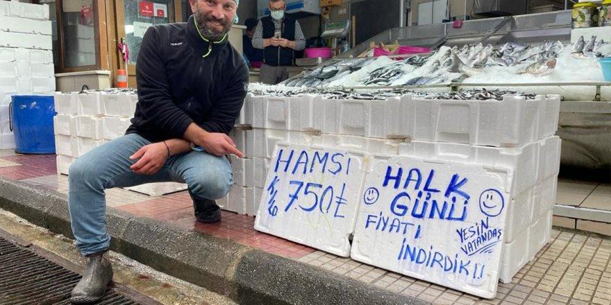 Hamsinin fiyatı dibi gördü: 7,5 lira