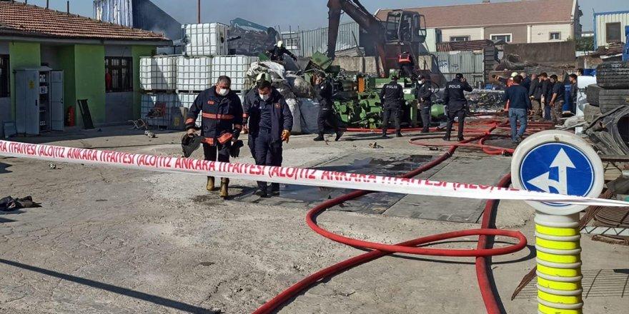 Başkent'te sanayi sitesinde yangın
