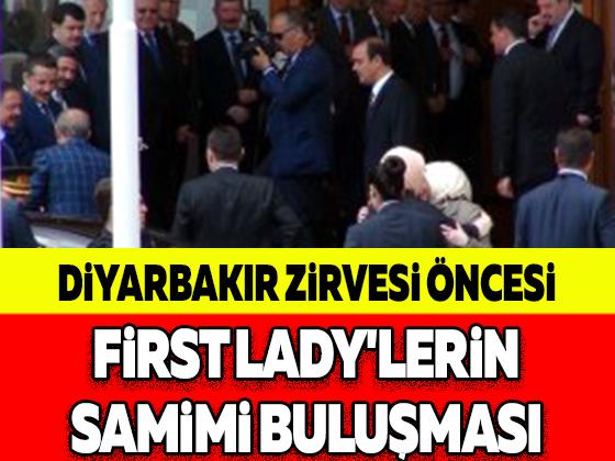 DİYARBAKIR ZİRVESİ ÖNCESİ FİRST LADY'LERİN SAMİMİ BULUŞMASI