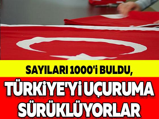 SAYILARI 1000'İ BULDU, TÜRKİYE'Yİ UÇURUMA SÜRÜKLÜYORLAR