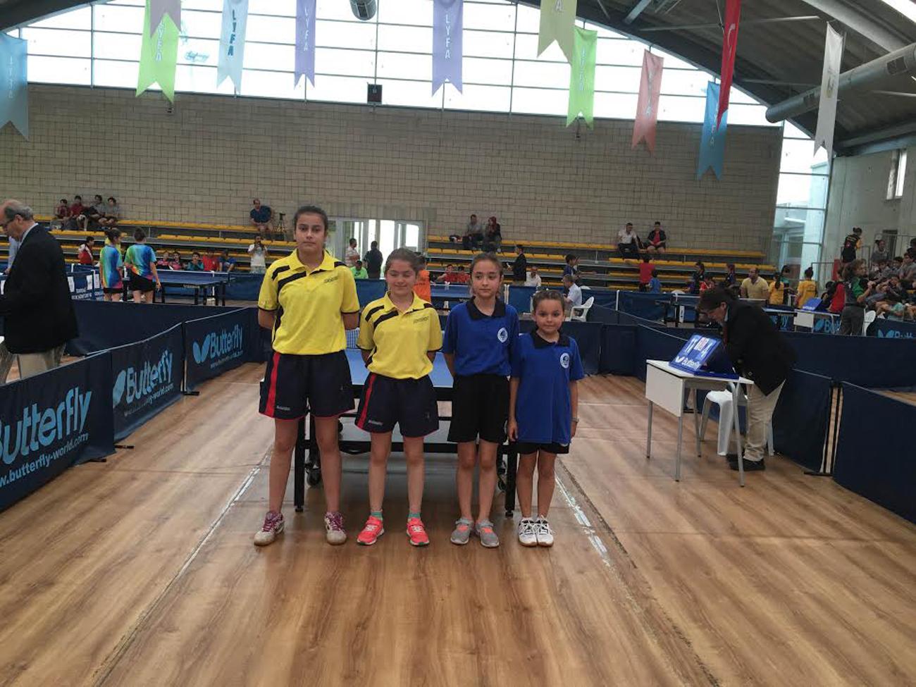 Minik Masa Tenisçiler ilk resmi sınavına çıktı