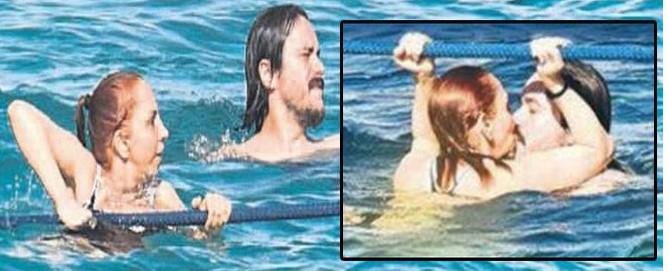 Sertab Erener denizin ortasında aşka geldi