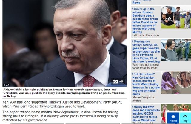 İngiliz Sitesinde Skandal! Orlando Saldırısı Haberinde Erdoğan'ın İsmini Geçirdiler