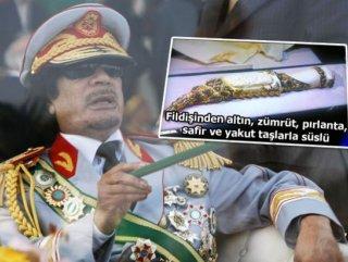 Kaddafi'nin yağmalanan hançeri İstanbul'da bulundu