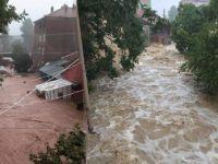 Sel Felaketi! Ne Varsa Denize Sürükleniyor; Bir Otobüs Dolusu Yolcu Mahsur